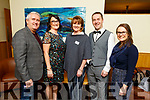 Oliver Hurley, Aile Riordan, Marie Hanafin, Mike Lynch and Ciara O'Callaghan attending the Strictly Young Dancing in the Ballyroe Heights Hotel on Saturday night.