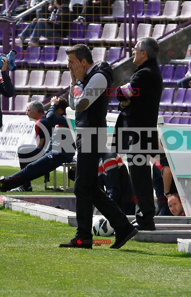 Real Valladolid´s coach Miroslav Djukic during match of La Liga 2012/13. 31/03/2013. Victor Blanco/Alterphotos /NortePhoto