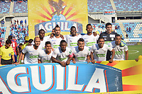 SANTA MARTA - COLOMBIA, 26-01-2019: Jugadores del Jaguares posan para una foto previo al e partido por la fecha 1 entre Unión Magdalena y Jaguares FC como parte de la Liga Águila I 2019 jugado en el estadio Sierra Nevada de la ciudad de Santa Marta. / Players of Jaguares pose to a photo prior Final second leg match between  Union Magdalena and Jaguares FC as a part Aguila League I 2019 played at Sierra Nevada stadium in Santa Marta city. Photo: VizzorImage / Gustavo Pacheco / Cont
