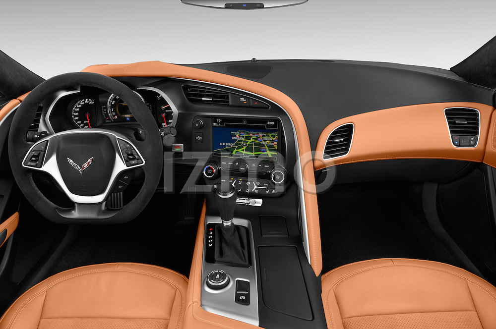 Stock photo of straight dashboard view of 2017 Chevrolet Corvette Grand-Sport-2LT 3 Door Coupe Dashboard