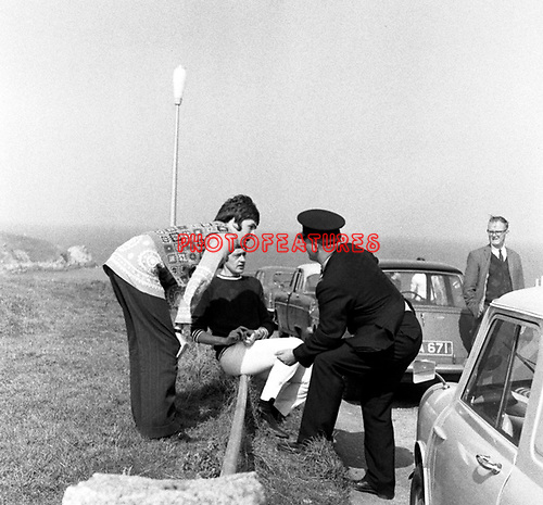 Beatles 1967 Paul McCartney films Magical Mystery Tour on Devon moors
