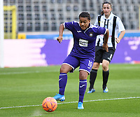20190807 - ANDERLECHT, BELGIUM : Anderlecht's Mariam Abdulai Toloba pictured during the female soccer game between the Belgian RSCA Ladies – Royal Sporting Club Anderlecht Dames  and the Greek FC PAOK Thessaloniki ladies , the first game for both teams in the Uefa Womens Champions League Qualifying round in group 8 , Wednesday 7 th August 2019 at the Lotto Park Stadium in Anderlecht  , Belgium  .  PHOTO SPORTPIX.BE | DAVID CATRY