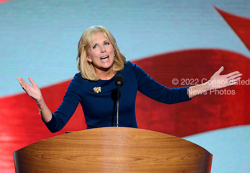 Dr. Jill Biden makes remarks at the 2012 Democratic National Convention in Charlotte, North Carolina on Thursday, September 6, 2012.  .Credit: Ron Sachs / CNP.(RESTRICTION: NO New York or New Jersey Newspapers or newspapers within a 75 mile radius of New York City)