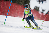 17th March 2018, Àvet Slope, Soldeu, Andorra; FIS Alpine Ski European Cup, Slalom Ladies Finals; #32 MONSEN Marte from NOR during the Slalom Final