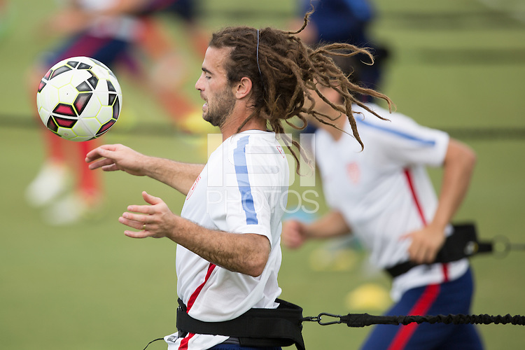 Nashville, Tennessee - Tuesday, June 30, 2015: The USMNT train in preparation for the Gold Cup at Lipscomb University.