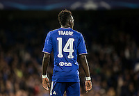 Bertrand Traore of Chelsea during the UEFA Champions League match between Chelsea and Maccabi Tel Aviv at Stamford Bridge, London, England on 16 September 2015. Photo by Andy Rowland.