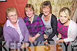 Quiz Night - Enjoying themselves at  the pub quiz in aid of Timothy O'Brien from Kilmoyley who is in Beaumont Hospital held in An Tocher Ban on Friday night were l/r Margaret Fitzgerald, Breda Fealy, Nora May O'Mahony and Siobhan Fitzgerald.