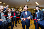BRUSSELS - BELGIUM - 28 November 2016 -- Inauguration of the Nordic Energy Office. -- Jyrki Katainen, Vice-president of the European Commission, responsible for Jobs, Growth, Investment and Competitiveness cutting the ribbon with Daniel Wennick, Head of Office Energy Foeretagen (Sweden) - Nordic Energy Office. -- PHOTO: Juha ROININEN / EUP-IMAGES