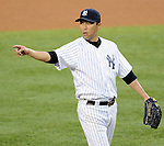 Hiroki Kuroda (Yankees),<br /> JUNE 25, 2013 - MLB :<br /> Pitcher Hiroki Kuroda of the New York Yankees during the Major League Baseball game against the Texas Rangers at Yankee Stadium in The Bronx, New York, United States. (Photo by AFLO)