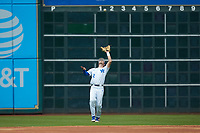 Trey Dawson (2) of the Kentucky Wildcats catches a fly ball against the Sam Houston State Bearkats during game four of the 2018 Shriners Hospitals for Children College Classic at Minute Maid Park on March 3, 2018 in Houston, Texas. The Wildcats defeated the Bearkats 7-2.  (Brian Westerholt/Four Seam Images)