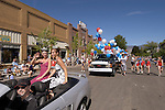 Carson Valley Days Parade queens on Main Street, Minden, Nevada.