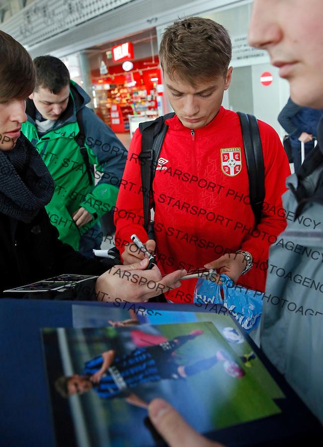 Adem Ljajic Poljska - Srbija prijateljska, Poland - Serbia friendly football match, training March 22. 2016. Poznan  (credit image & photo: Pedja Milosavljevic / STARSPORT)