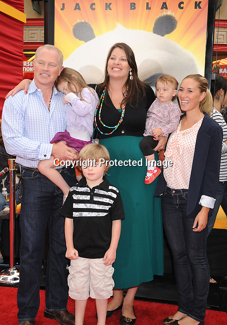 "HOLLYWOOD, {CA} -MAY 22: Neil McDonough and family arrive at the Los Angeles premiere of ""Kung Fu Panda 2"" held at Grauman's Chinese Theatre on May 22, 2011 in Hollywood, California."