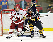 Marshall Everson (Harvard - 21), Zack Currie (Quinnipiac - 23) - The visiting Quinnipiac University Bobcats defeated the Harvard University Crimson 3-1 on Wednesday, December 8, 2010, at Bright Hockey Center in Cambridge, Massachusetts.