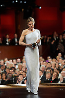 Renee Zellweger accepts the Oscar® for Actress In A Leading Role during the live ABC Telecast of The 92nd Oscars® at the Dolby® Theatre in Hollywood, CA on Sunday, February 9, 2020.<br /> *Editorial Use Only*<br /> CAP/AMPAS<br /> Supplied by Capital Pictures