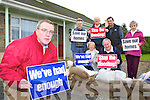 Residents from Tullig, Castleisland who are sick and tired of their houses being flooded and are asking the Council to take action front Cllr: Bobby O'Connell back l-r: Joe Reidy, Josephine Reidy, Timmy Egan, Fr Pat Hogan, Sean Hickey and Eileen Lyons   Copyright Kerry's Eye 2008