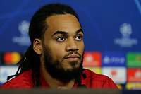 Former Manchester City player, Jason Denayer, who now plays for Olympique Lyonnais speaks to the press during a Manchester City Press Conference at the Groupama Stadium on 26th November 2018