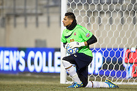 Maryland Terrapins goalkeeper Zack Steffen (99). The Maryland Terrapins defeated Virginia Cavaliers 2-1 during the semifinals of the 2013 NCAA division 1 men's soccer College Cup at PPL Park in Chester, PA, on December 13, 2013.
