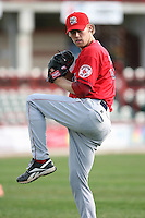 June 10th 2008:  Pitcher Daniel Bard of the Portland Seadogs, Class-AA affiliate of the Boston Red Sox, during a game at Jerry Uht Park in Erie, PA.  Photo by:  Mike Janes/Four Seam Images