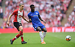 Victor Moses of Chelsea is challenged by Oriol Romeu of Southampton during the FA cup semi-final match at Wembley Stadium, London. Picture date 22nd April, 2018. Picture credit should read: Robin Parker/Sportimage