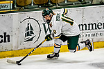 16 February 2019: University of Vermont Catamount Defender Ellice Murphy, a Freshman from Roseau, MN, in third period action against the Holy Cross Crusaders at Gutterson Fieldhouse in Burlington, Vermont. The Lady Cats defeated the Crusaders 4-1 to sweep their 2-game weekend series. Mandatory Credit: Ed Wolfstein Photo *** RAW (NEF) Image File Available ***