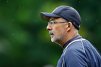 17 July 2011: Francois Colombier, coach of the Rouen Huskies, is seen during the 2011Challenge de France final match won 6-4 by the Rouen Huskies over the Savigny Lions, at Stade Pierre Rolland, in Rouen, France.
