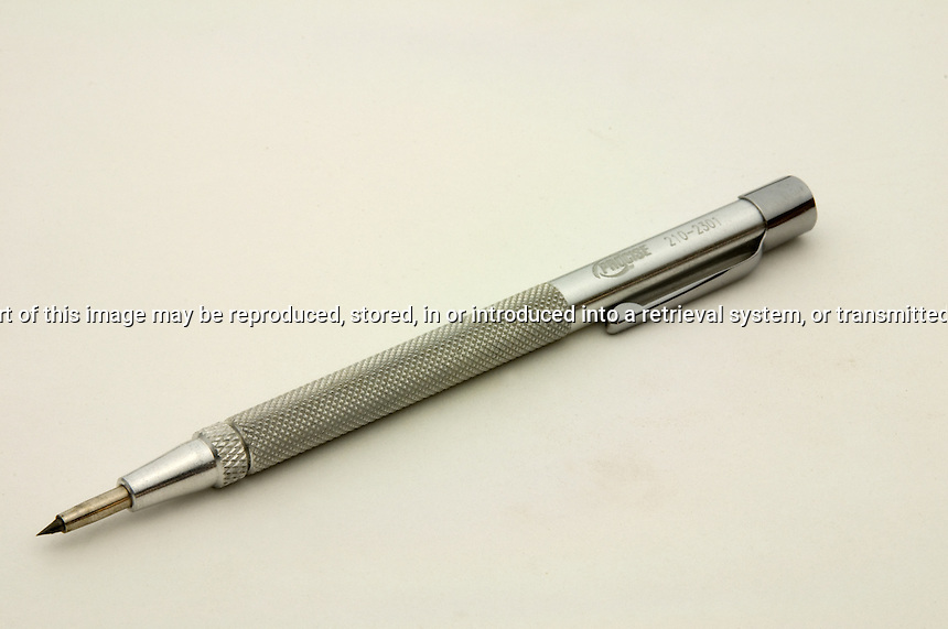 Metal scriber in isolation on a white background