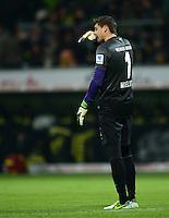 FUSSBALL   1. BUNDESLIGA   SAISON 2012/2013    18. SPIELTAG SV Werder Bremen - Borussia Dortmund                   19.01.2013 Sebastian Mielitz (SV Werder Bremen) ist enttaeuscht