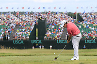 Brian Harman (USA) tees off the par3 9th tee during Saturday's Round 3 of the 117th U.S. Open Championship 2017 held at Erin Hills, Erin, Wisconsin, USA. 17th June 2017.<br /> Picture: Eoin Clarke | Golffile<br /> <br /> <br /> All photos usage must carry mandatory copyright credit (&copy; Golffile | Eoin Clarke)