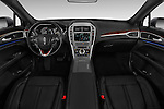 Stock photo of straight dashboard view of 2017 Lincoln MKZ Reserve 4 Door Sedan Dashboard