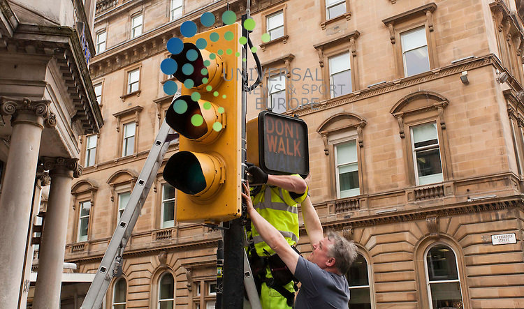 Streets around George Square get ready to welcome the World War Z, An Oral History of the Zombie War, Brad Pitt will star plays a worker at the United Nations Post-war Commission, as Glasgow is turned into a ruined Philadelphia. .Picture: Johnny Mclauchlan Universal News and Sport (Europe)15/08/2011