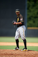Pittsburgh Pirates pitcher Sergio Cubilete (28) gets ready to deliver a pitch during a Florida Instructional League game against the New York Yankees on September 25, 2018 at Yankee Complex in Tampa, Florida.  (Mike Janes/Four Seam Images)