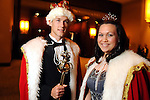 King Lukas Simon and queen Emily Calasanz at the University of St. Thomas Court of Diamond Jubilee at the HIlton Americas Hotel Tuesday Feb. 16,2010. (Dave Rossman Photo)
