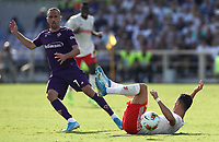 Calcio, Serie A: Fiorentina - Juventus, stadio Artemio Franchi Firenze 14 settembre 2019<br /> Juventus' Cristiano Ronaldo (r) in action with Fiorentina's Franck Ribery (l) during the Italian Serie A football match between Fiorentina and Juventus at Florence's Artemio Franchi stadium, September 14, 2019. <br /> UPDATE IMAGES PRESS/Isabella Bontto