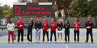 STANFORD, CA - May 14, 2011:  The Team before Stanford's 4-0 win over Illinois-Chicago in the first round of the NCAA Tournament in Stanford, California on May 14, 2011.