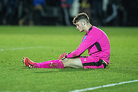 Friday  16 December 2014<br /> Pictured:  Rory Brown of Wolverhampton Wonderers looks dejected <br /> Re: Swansea City U18s v Wolverhampton Wonderers U18s, 3rd Round FA youth Cup Match at the Landore Training Facility, Swansea, Wales, UK