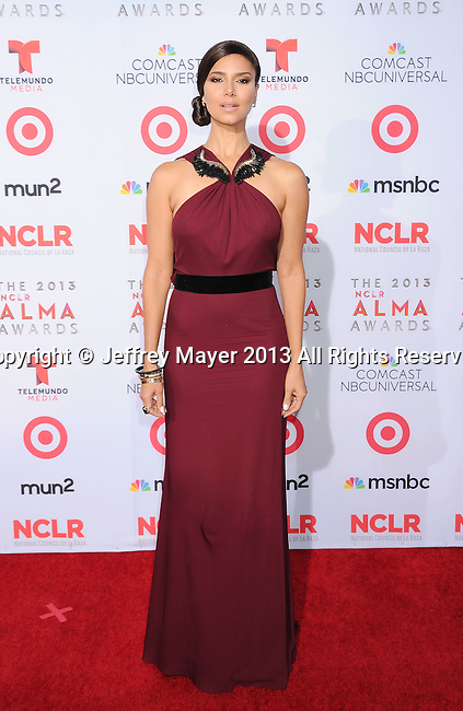 PASADENA, CA- SEPTEMBER 27: Actress Roselyn Sanchez arrives at the 2013 NCLA ALMA Awards at Pasadena Civic Auditorium on September 27, 2013 in Pasadena, California.