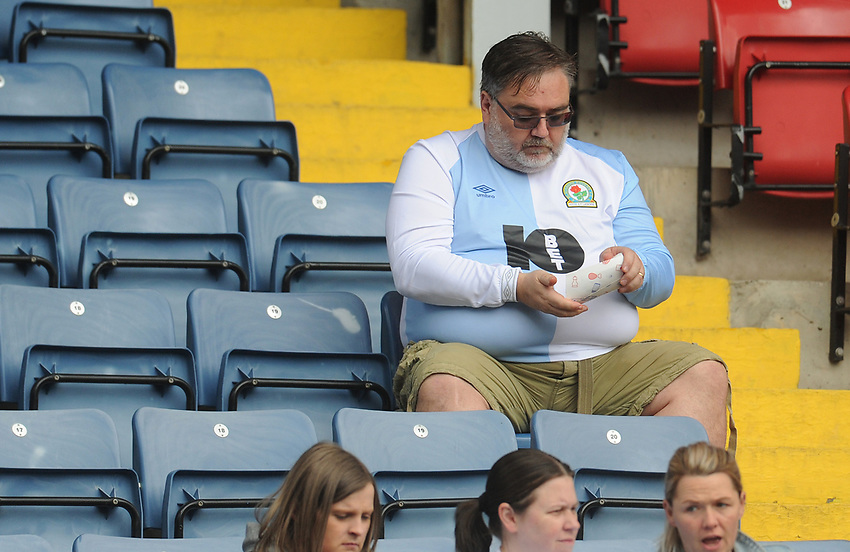 Blackburn Rovers fans enjoy the pre-match atmosphere <br /> <br /> Photographer Kevin Barnes/CameraSport<br /> <br /> The EFL Sky Bet Championship - Blackburn Rovers v Swansea City - Sunday 5th May 2019 - Ewood Park - Blackburn<br /> <br /> World Copyright © 2019 CameraSport. All rights reserved. 43 Linden Ave. Countesthorpe. Leicester. England. LE8 5PG - Tel: +44 (0) 116 277 4147 - admin@camerasport.com - www.camerasport.com