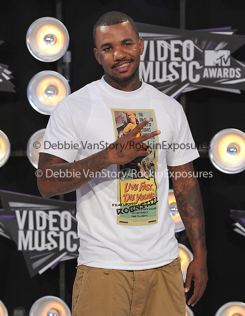 The Game at The 2011 MTV Video Music Awards held at Nokia Theatre L.A. Live in Los Angeles, California on August 28,2011                                                                   Copyright 2011  DVS / Hollywood Press Agency