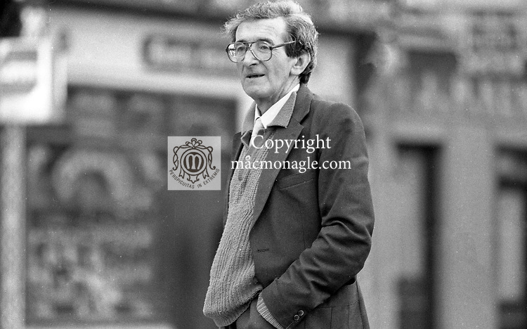 Actor Eamonn Keane pictured in his native Listowel, County Kerry in 1988. He died in 1990. He was a brother of John B Keane and the family hailed from Listowel, County Kerry, Ireland<br /> Photo: Don MacMonagle <br /> <br /> www.macmonagle.com<br /> e: info@macmonagle.com