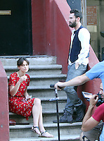 "July 3, 2012: Keira Knightley and Adam Levine on the set of ""Can a Song Save Your Life?"" in New York City. © RW/MediaPunch Inc. /*NORTEPHOTO.COM*<br />