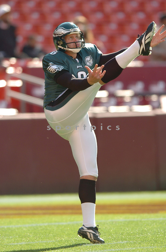 SAV ROCCA, of the Philadelphia Eagles in action during the Eagles game against the Washington Redskins on November 11, 2007 in Landover, Maryland...Eagles  win 33-25..SportPics