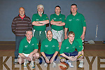 FRIENDS: Veterns who played in the Johnnie Wall Basketball Classic in Cumann Iosaef, Tralee on Friday. Front l-r: Johnny Wall (jnr), John Herrick and Jason Quirke. Back l-r: Brian Tess(manager), Johnnie Wall, John Hegarty and Joe Quirke..