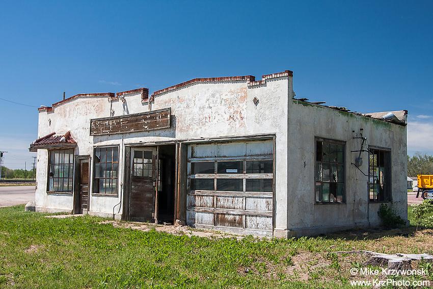 Abandoned Service Station, Nebraska