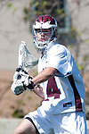 Los Angeles, CA 02/20/10 -Andrew Manglapus (LMU # 14) in action during the USC-Loyola Marymount University MCLA/SLC divisional game at Leavey Field (LMU).  LMU defeated USC 10-7.