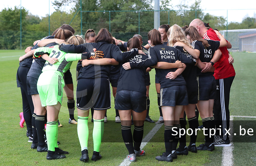 OHL players pictured before a female soccer game between Standard Femina de Liege and Oud Heverlee Leuven on the second matchday of the 2020 - 2021 season of Belgian Scooore Women s SuperLeague , saturday 5 th of September 2020  in Angleur , Belgium . PHOTO SPORTPIX.BE | SPP | SEVIL OKTEM