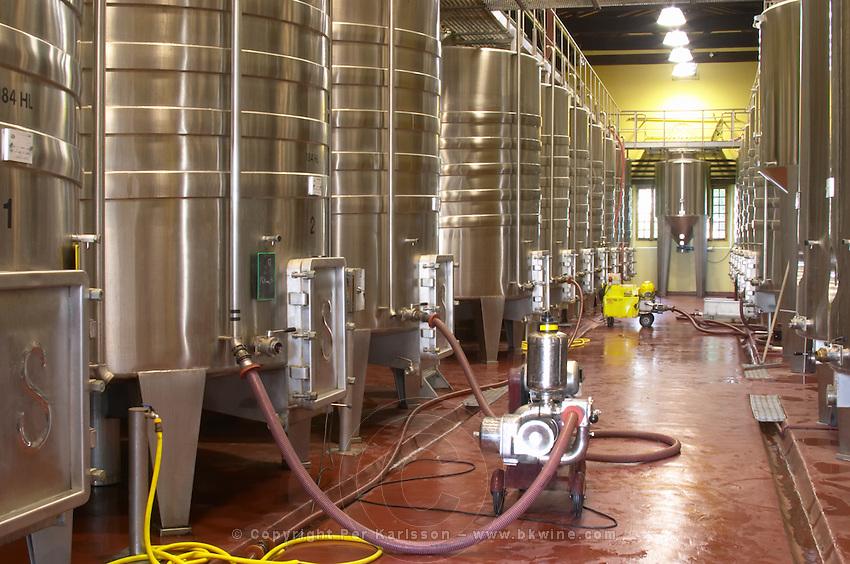 Fermentation tanks. Chateau Reignac, Bordeaux, France