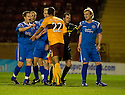 10/11/2010   Copyright  Pic : James Stewart.sct_jspa008_motherwell_v_st_johnstone  .::  NICK BLACKMAN AND LIAM CRAIG FACE UP TO EACH OTHER  ::.James Stewart Photography 19 Carronlea Drive, Falkirk. FK2 8DN      Vat Reg No. 607 6932 25.Telephone      : +44 (0)1324 570291 .Mobile              : +44 (0)7721 416997.E-mail  :  jim@jspa.co.uk.If you require further information then contact Jim Stewart on any of the numbers above.........