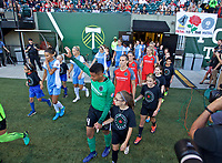 Portland, OR - Saturday August 19, 2017: Adrianna Franch during a regular season National Women's Soccer League (NWSL) match between the Portland Thorns FC and the Houston Dash at Providence Park.