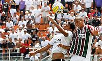 SÃO PAULO, SP,25 JANEIRO 2012 - COPA SAO PAULO DE FUTEBOL JUNIOR 2012 - <br /> Leo lins (d) jogador do Fluminense durante partida entre as equipes do Corinthians x Fluminense realizada no Estádio Paulo Machado de Carvalho (SP), válido pela final da Copa São Paulo de Futebol Junior 2012, na manhã desta  quarta feira (25). (FOTO: ALE VIANNA - NEWS FREE).